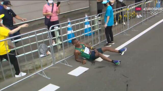 Maratończyk walczył do upadłego. Niestety przegrał z upałem