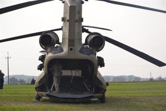 Amerykański śmigłowiec transportowy Chinook