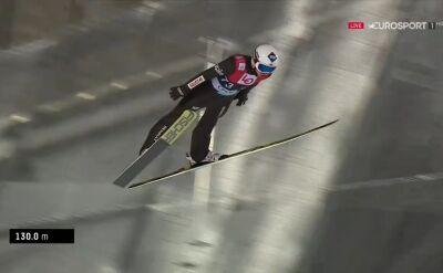 Skok Kamila Stocha z kwalifikacji do konkursu w Oslo
