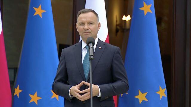 Prezydent Andrzej Duda podczas spotkania z okazji Dnia Samorządu Terytorialnego