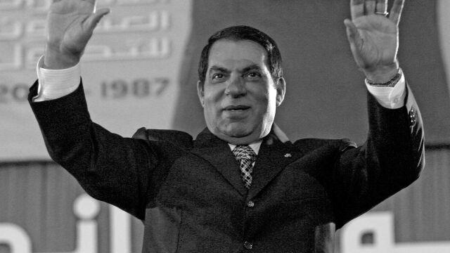 Obalony prezydent Tunezji zmarł na uchodźstwie