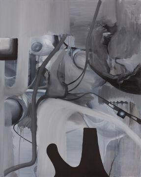 Tymek Borowski, Bez tytułu, 2019, olej na płótnie, dzięki uprzejmości artysty i galerii Monopol