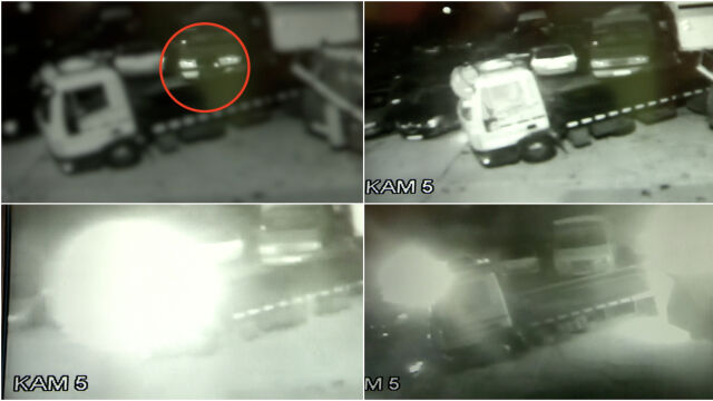 Wszedł za ciężarówkę, po chwili buchnął ogień. Na parkingu spłonęło 18 aut