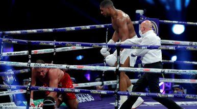 Seria potężnych ciosów, rywala ścięło z nóg. Joshua znokautował i obronił tytuł