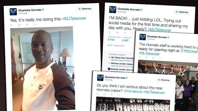 """#MJTakeover. Michael Jordan przejął Twittera """"Szerszeni"""""""