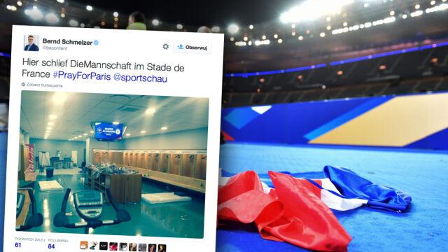 Piłkarze całą noc spędzili na Stade de France. Niemcy i Francuzi solidarnie spali w szatniach