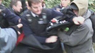 Grecy demonstrowali nawet w Londynie (APTN)