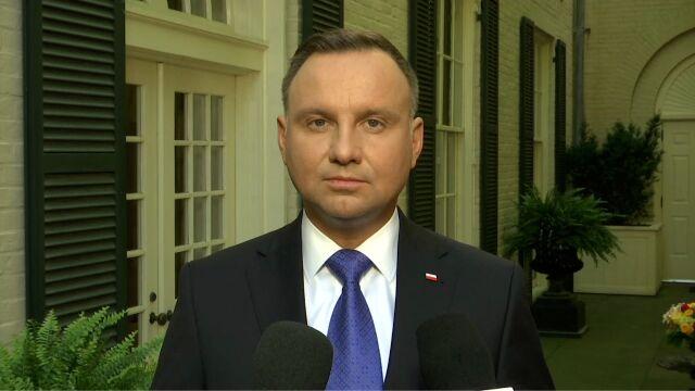 Andrzej Duda po spotkaniu z Donaldem Trumpem