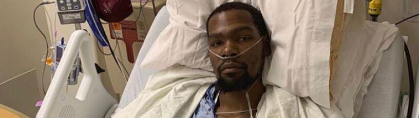 Ścięgno zerwane, Durant po operacji.