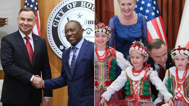 Spotkanie z burmistrzem Houston i teksańską Polonią. Drugi dzieńwizyty prezydenta w USA