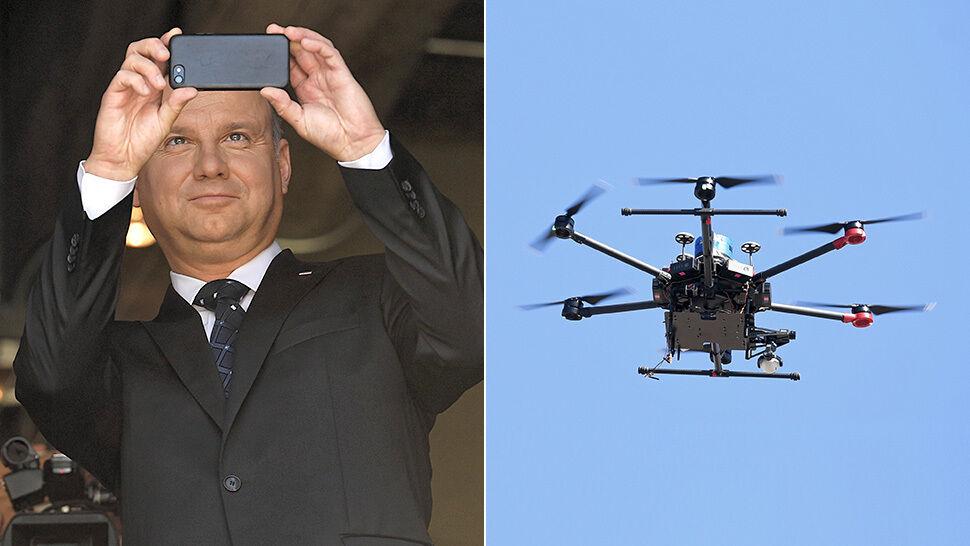 Prezydent Duda w Nevadzie obejrzał pokaz dronów