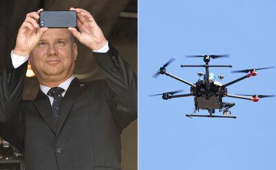 Andrzej Duda na pokazie dronów