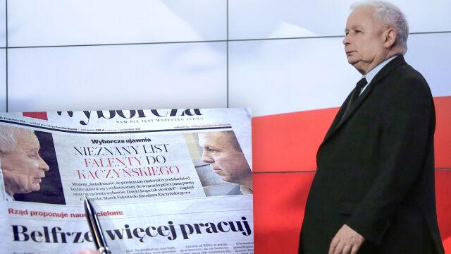"""""""Wielka sprawa, do jakiej się przyczyniłem"""". """"GW"""" o """"nieznanym liście"""" Falenty do Kaczyńskiego"""