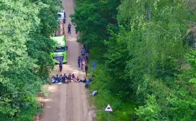 Ciężarówki ominęły blokadę ekologów. Drzewa wyjechały z puszczy