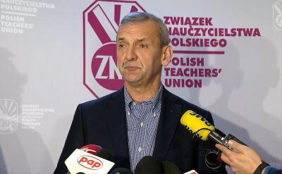 Prezes ZNP o skutkach reformy edukacji