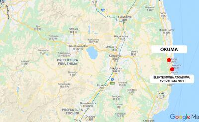Miasto Okuma leży w prefekturze Fukushima