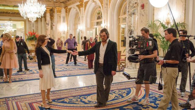 Na planie filmu - Amy Adams z Christianem Balem