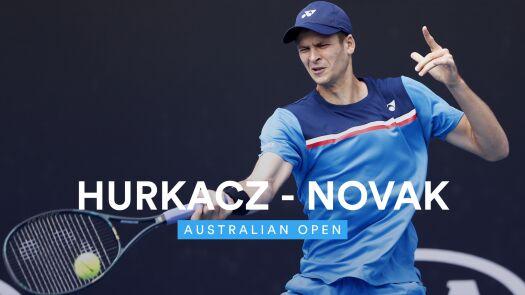 Skrót meczu Hurkacz - Novak w 1. rundzie Australian Open