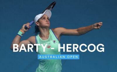 Skrót meczu Barty - Hercog w 2. rundzie Australian Open