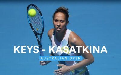 Skrót meczu Keys - Kasatkina w 1. rundzie Australian Open