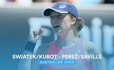 Skrót meczu Świątek/Kubot - Perez/Saville w 1. rundzie miksta w Australian Open