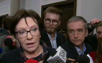 Kopacz (PO): nielegalny budżet to igranie z losem Polski