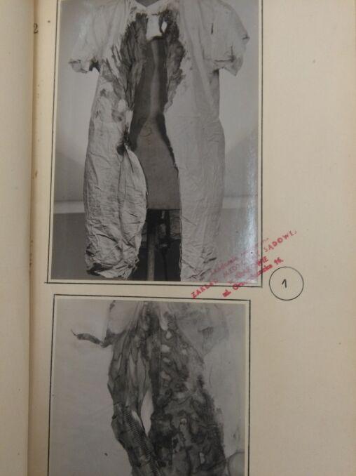 Zdjęcia ubrań jednej z ofiar Karola Kota