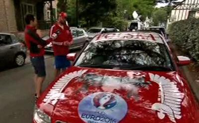 Specjalny kibicowski samochód w La Baule. Wszędzie jeździł za reprezentacją