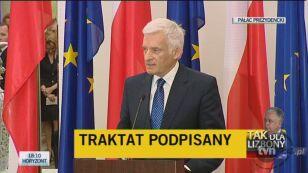 Przewodniczący PE Jerzy Buzek: Traktat posłuży zwykłym ludziom