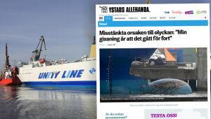 Polski prom uderzył w nabrzeże w Szwecji.