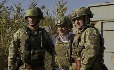 Zełenski spotkał się z żołnierzami stacjonującymi na wschodzie Ukrainy