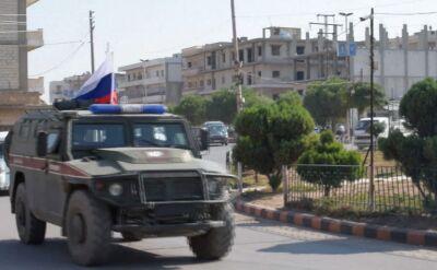 Rosyjska policja wojskowa prowadzi działania w strefie przygranicznej w Kobani