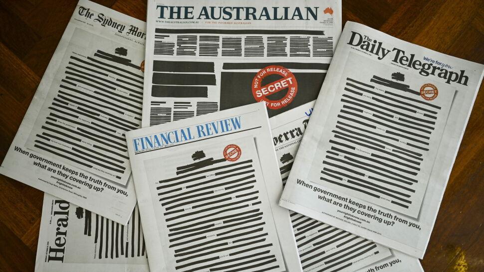 """Australijskie media protestują. Gazety """"ocenzurowane"""""""