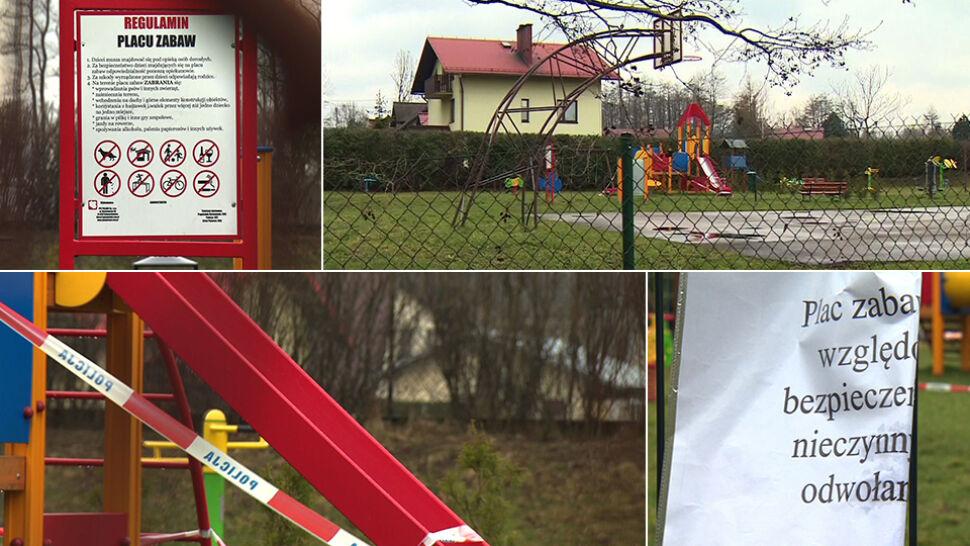 Dwuletni chłopiec poparzył się na zjeżdżalni. Żrąca substancja rozlana na placu zabaw