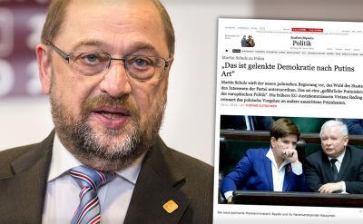 Schulz znów o Polsce: to demokracja prowadzona w stylu Putina