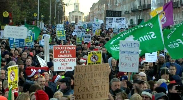 Irlandczycy walczą o darmową wodę. Tysiące w proteście przeciwko założeniu liczników