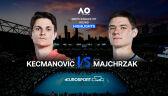 Skrót meczu Kecmanović - Majchrzak w 1. rundzie Australian Open
