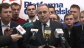Schetyna: będziemy twardo bronić wolności i samorządności