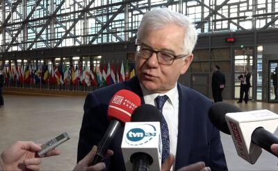 Czaputowicz o propozycji ws. backstopu