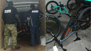Przewoził kradzione rowery warte 300 tysięcy złotych, wpadł na autostradzie