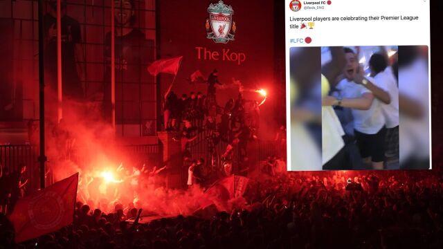 Piłkarze przed telewizorem, kibice na ulicach. Liverpool oszalał ze szczęścia