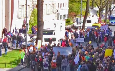 Protest pod siedzibą MEN w Warszawie