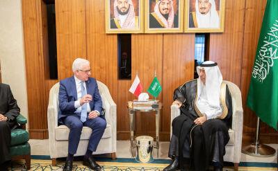 Jacek Czaputowicz spotkał się z ministrami królestwa Arabii Saudyjskiej