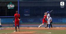 Skrót meczu Włochy – USA w turnieju softballa kobiet