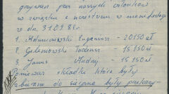 """Notatka pokazująca, że tajna komisja zakładowa w """"Instalu"""" wzięła pod opiekę rodzinę Andrzeja Trajkowskiego, który zginął 31 sierpnia 1982 roku podczas manifestacji w Lubinie i dlatego brakuje jej pieniędzy na grzywny. Decyzję o wypłacie 50 tysięcy podpisał """"Witold"""", czyli Józef Pinior"""