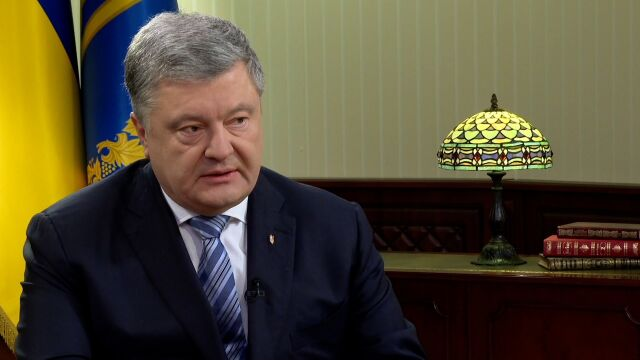 The President of Ukraine, Petro Poroshenko hosted TVN24 BIS reporter Michał Sznajder in his in Kiev