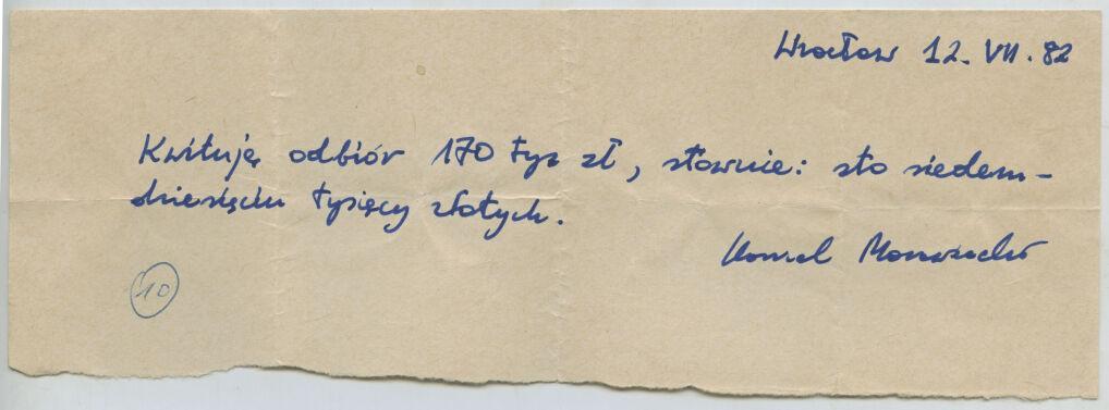 """170 tysięcy złotych w lipcu 1982 roku odebrał Kornel Morawiecki – na pensje dla redakcji """"Z dnia na dzień"""""""