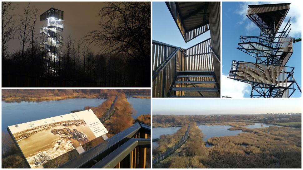 Wystarczy pokonać 120 stopni, by z wysokości podziwiać panoramę miasta i 40 stawów