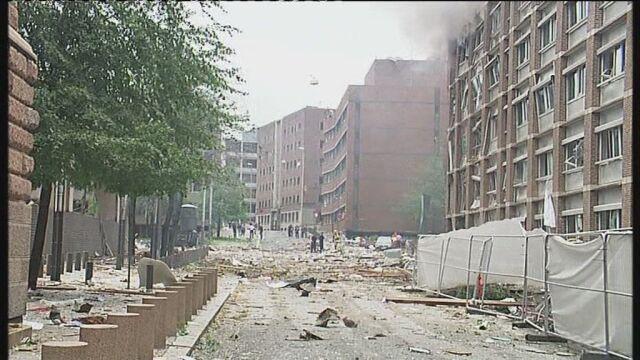 Oslo po wybuchu (zdjęcia: APTN, Christian Aglen, Morgan Flame)