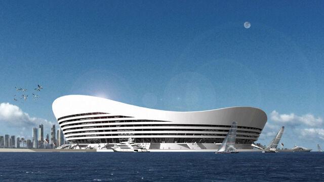 Ten stadion może pływać